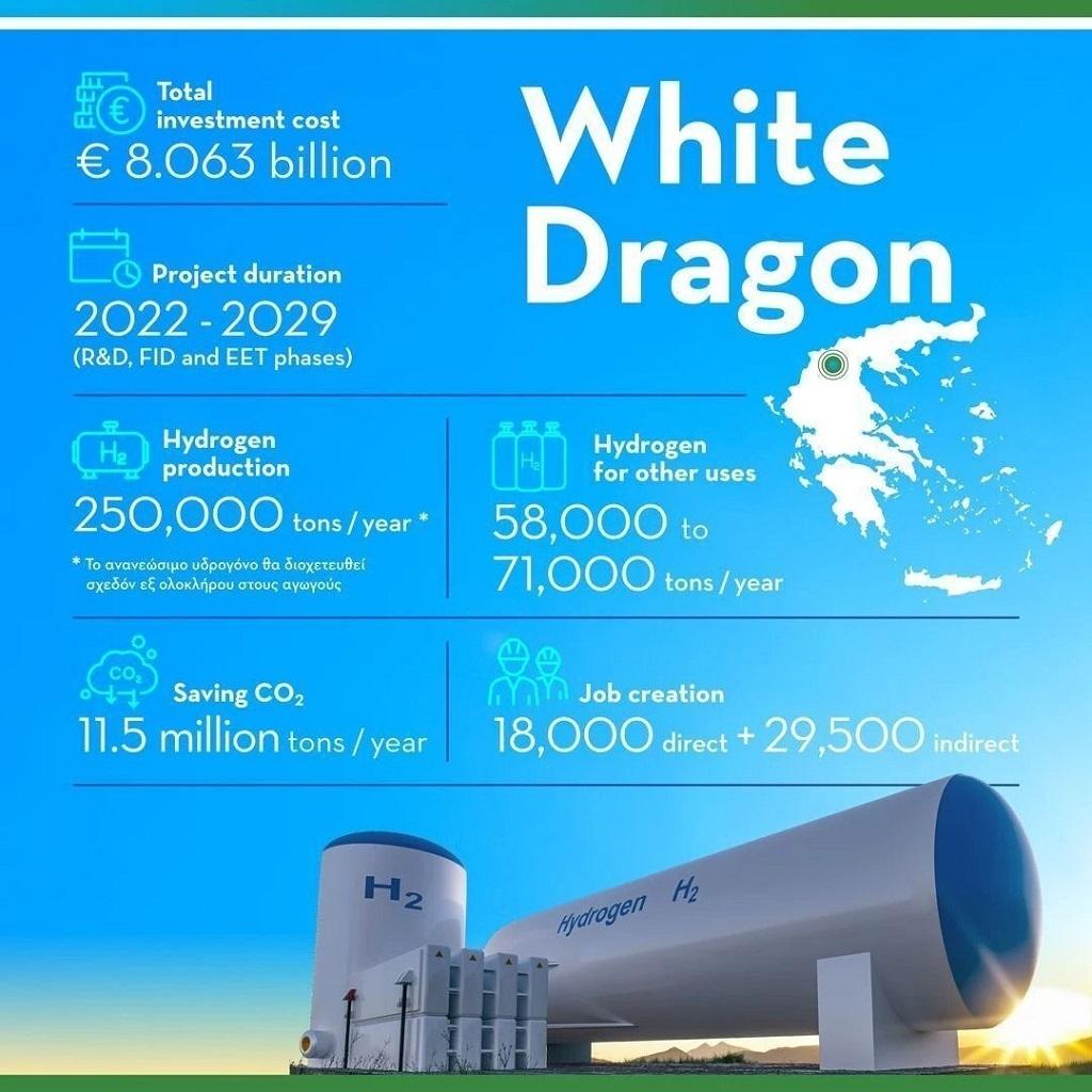 Project του μήνα το «White Dragon» που συντονίζει η ΔΕΠΑ Εμπορίας από το World Hydrogen Leaders