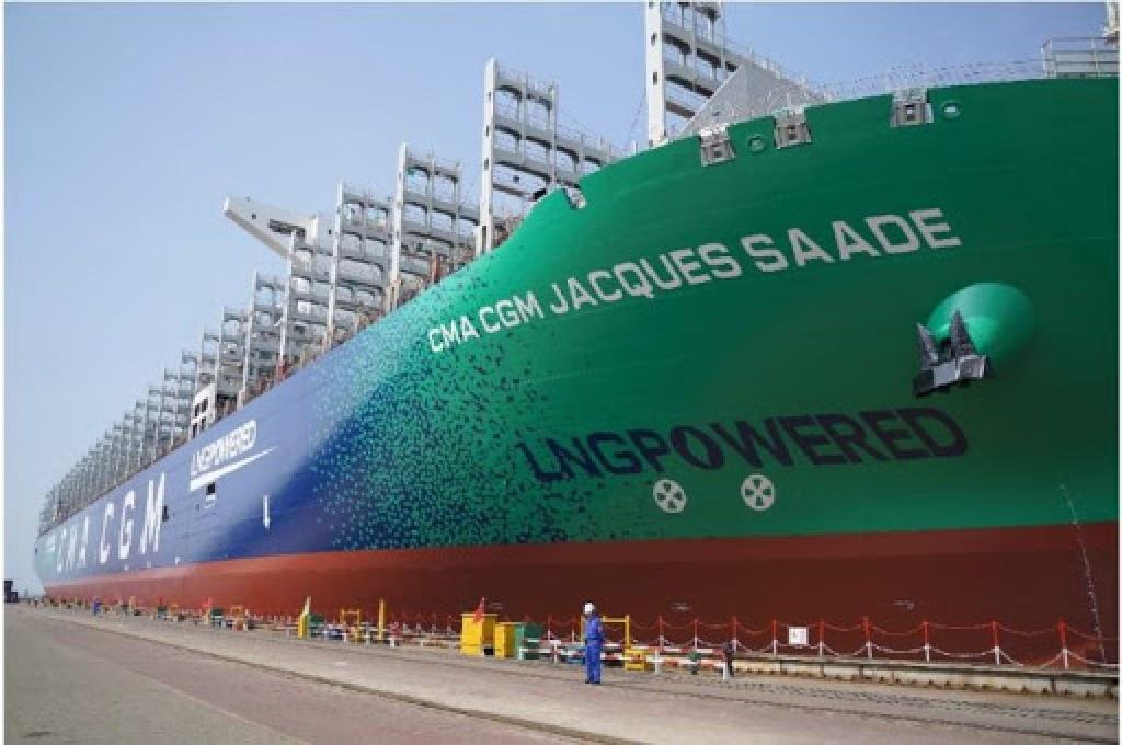 CMA CGM: Παρέλαβε το μεγαλύτερο παγκοσμίως κοντέινερ που κινείται με LNG