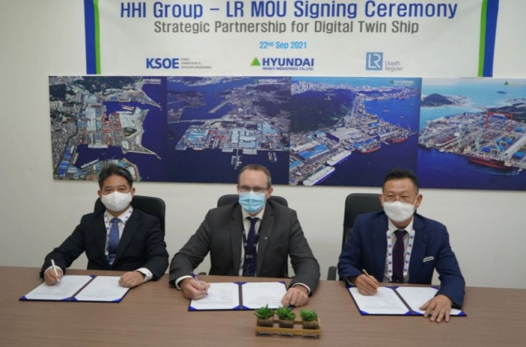 LR, HHI and KSOE sign MoU to develop digital twin technology for an LNG carrier.