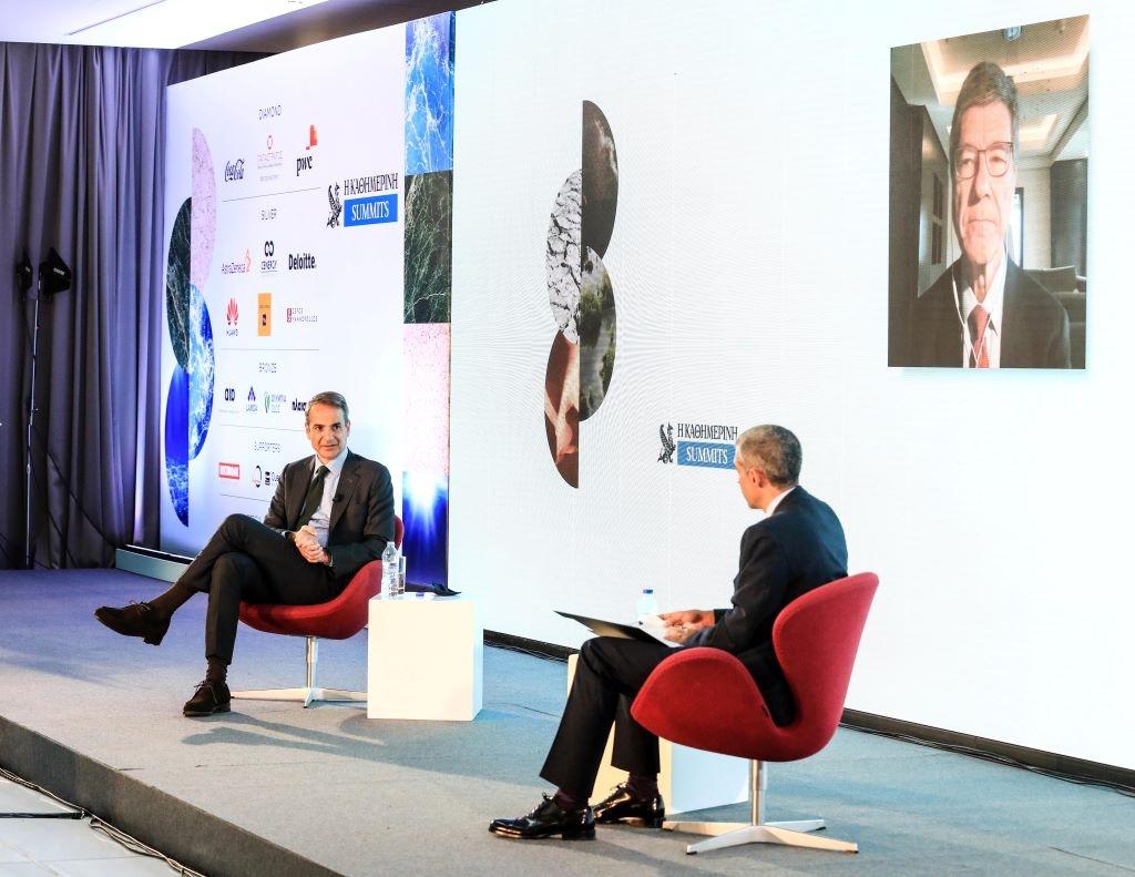 Καθημερινή Summits, ESG – Κ. Μητσοτάκης και Jeffrey Sachs: Τολμηρές αποφάσεις και διακρατική συνεργασία το «κλειδί»
