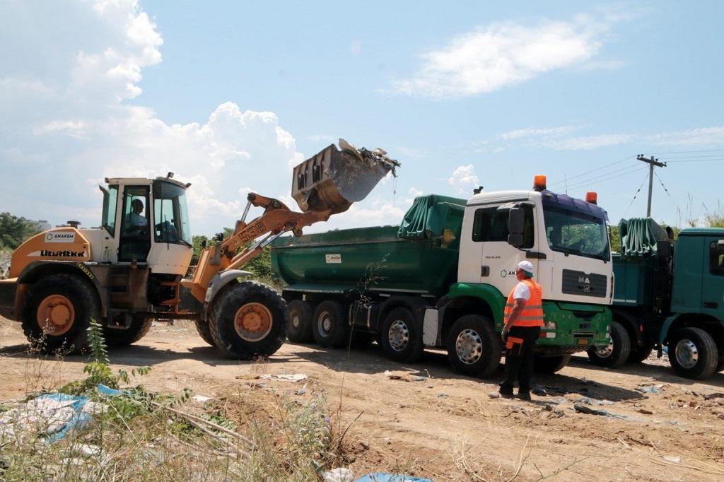 Νέα περιβαλλοντική δράση για την απομάκρυνση αποβλήτων από τους Λαχανόκηπους Θεσσαλονίκης υλοποίησε η ΑΝΑΚΕΜ Α.Ε.