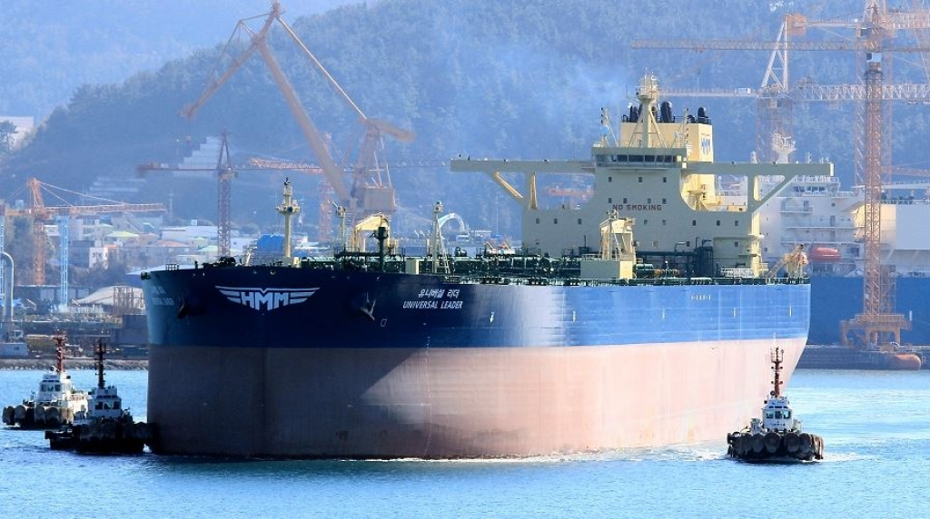 """Universal Leader"" departing Daewoo shipyard after delivery, February 1th, 2019. ( Photo Copyright Lappino )"