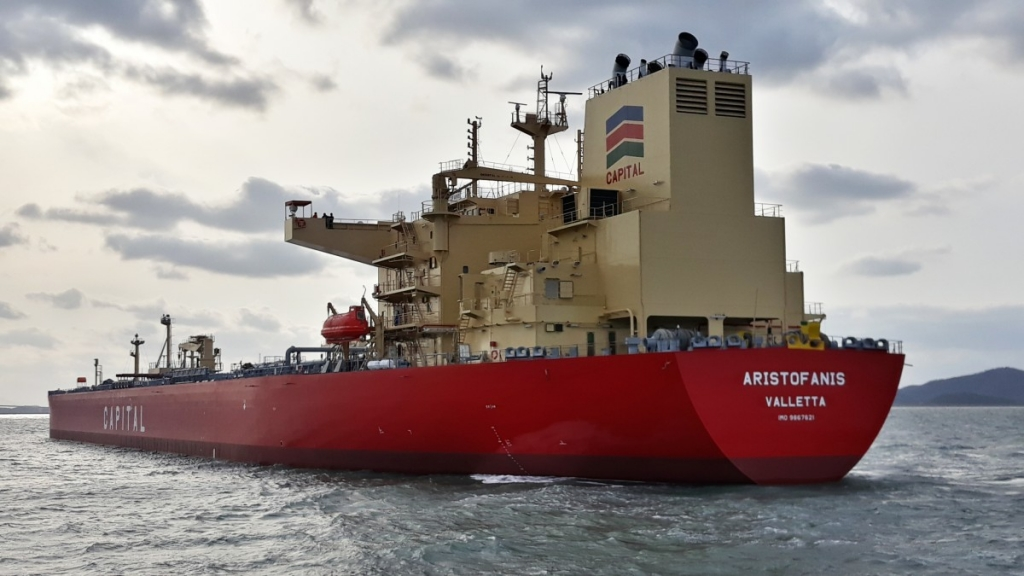 Capital Ship Management Corp. Takes Delivery of M/T 'Aristofanis'