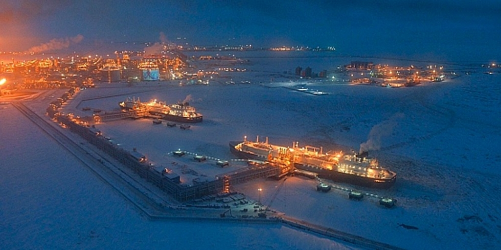 The port of Sabetta on Russian Arctic coast. Photo: Yamal-Nenets government