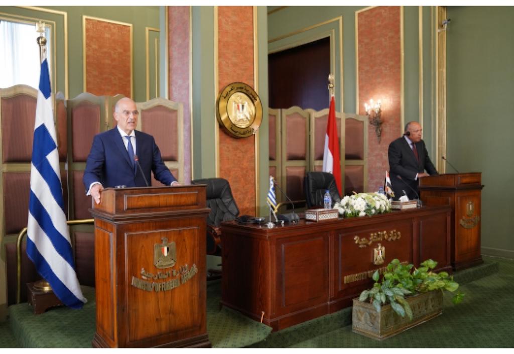 Δήλωση Υπουργού Εξωτερικών, Ν. Δένδια, μετά την υπογραφή συμφωνίας για την οριοθέτηση AOZ μεταξύ Ελλάδος και Αιγύπτου (Κάιρο, 06.08.2020)